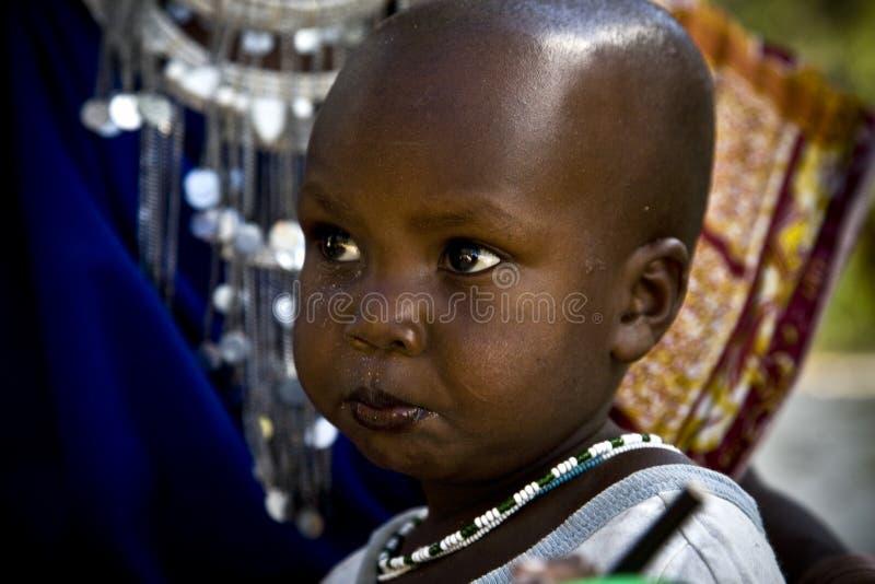 El Masai del bebé imagen de archivo