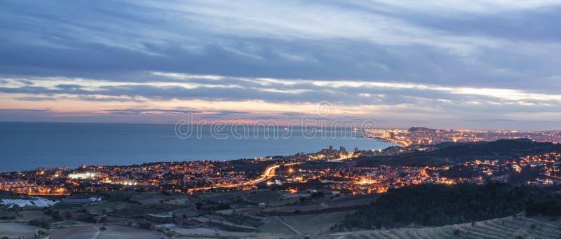 El Masnou nella Catalogna costiera fotografia stock libera da diritti