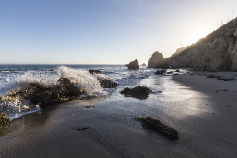 El-matador State Beach Malibu Kalifornien arkivfoton