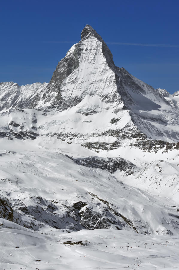 El Matterhorn fotografía de archivo