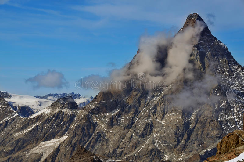 El Matterhorn magnífico fotos de archivo