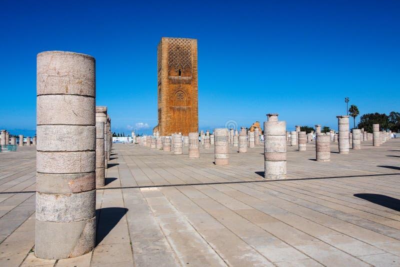 El mausoleo de Mohammed V en Rabat, Marruecos imagen de archivo