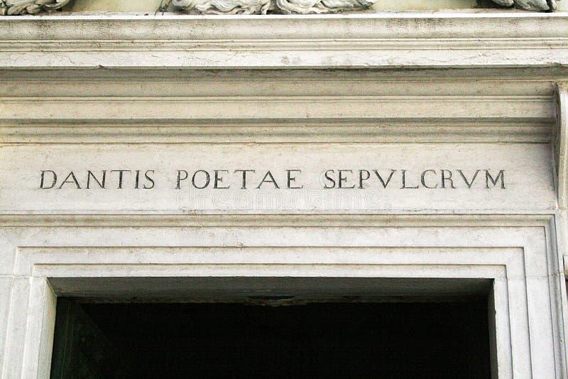 El mausoleo del dante foto de archivo libre de regalías