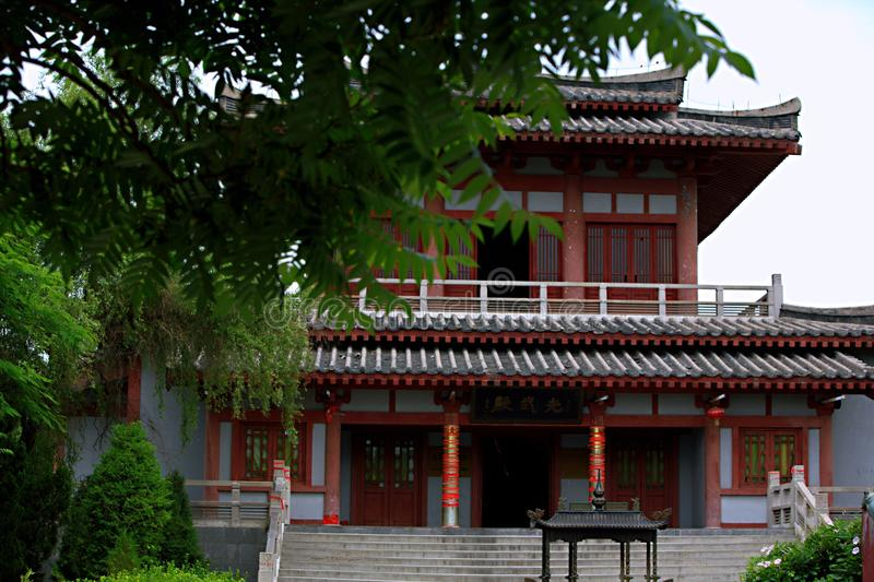 El mausoleo del emperador Wudi de Han Guang foto de archivo