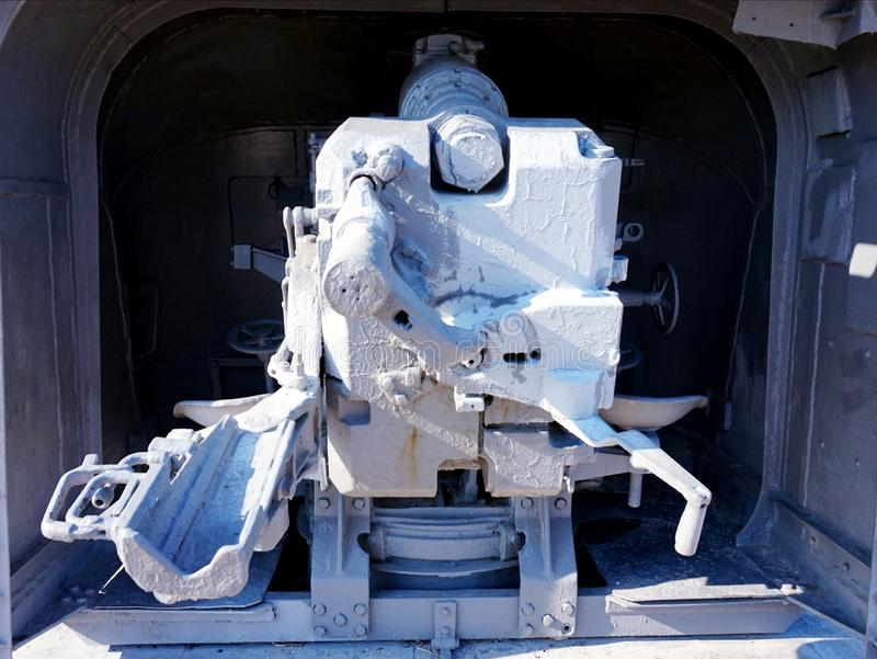 El mecanismo del arma de largo alcance terrestre de la Segunda Guerra Mundial fotos de archivo libres de regalías