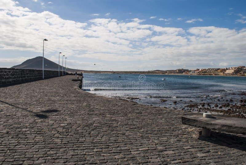 El Medano, Tenerife-Spain. El Médano is one of the world's best windsurfing/kitesurfing locations stock photography