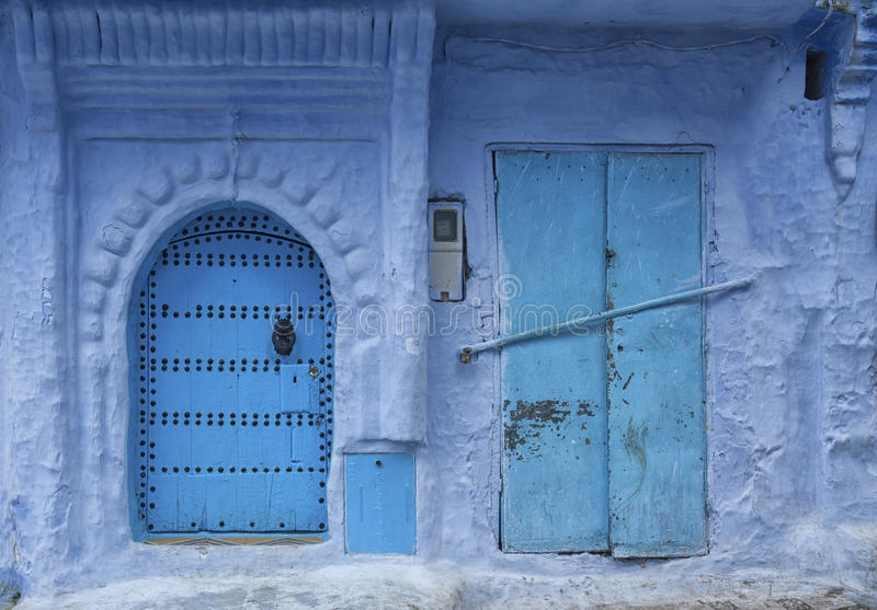 El Medina hermoso de Chefchaouen, Marruecos foto de archivo libre de regalías