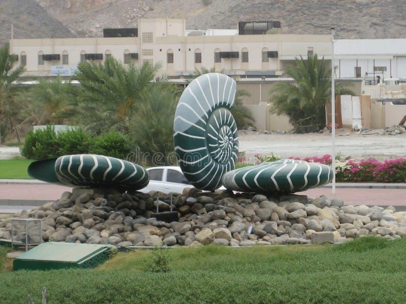 El Medio Oriente o África, los paisajes pintorescos del roudabout ajardina fotografía foto de archivo libre de regalías