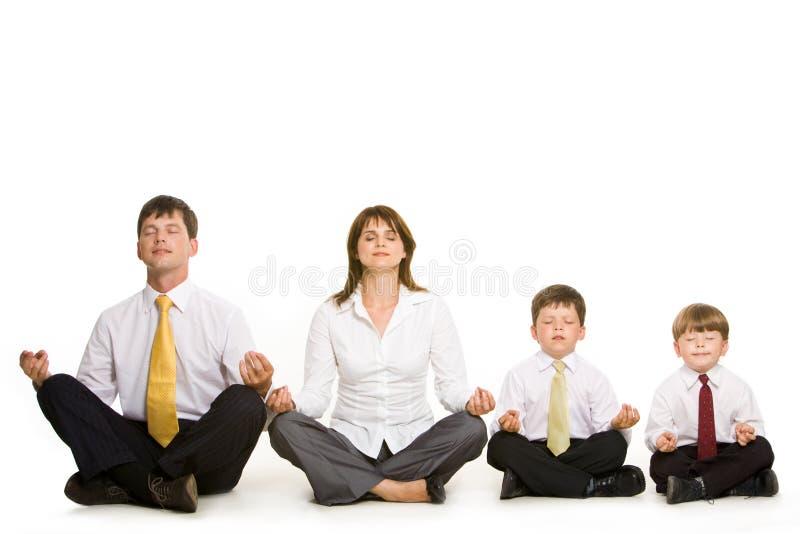 El Meditating junto foto de archivo libre de regalías