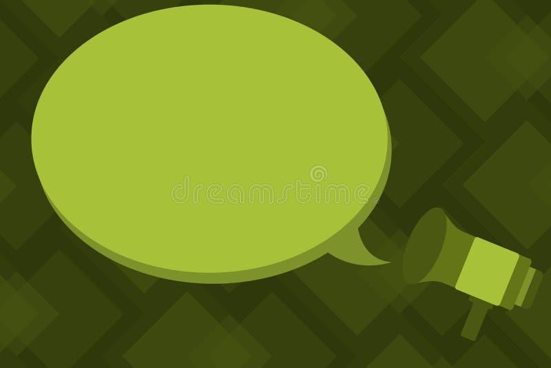 El megáfono geométrico del elemento del diseño del negocio del vector del ejemplo del concepto de la copia del fondo abstracto mo stock de ilustración