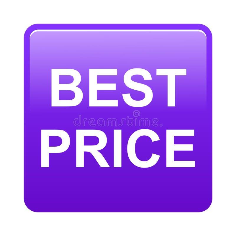 El mejor botón del precio stock de ilustración
