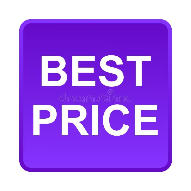 El mejor botón del precio ilustración del vector
