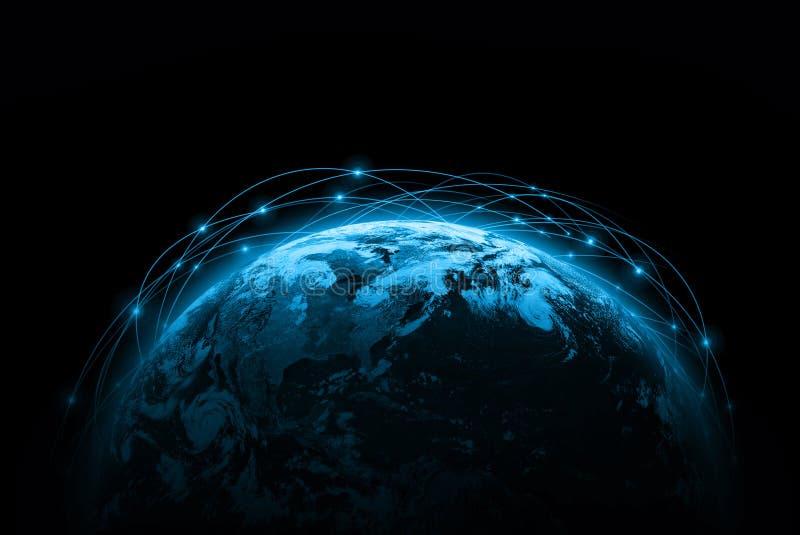 El mejor concepto del Internet de asunto global de la serie de los conceptos Elementos de esta imagen equipados por la NASA stock de ilustración