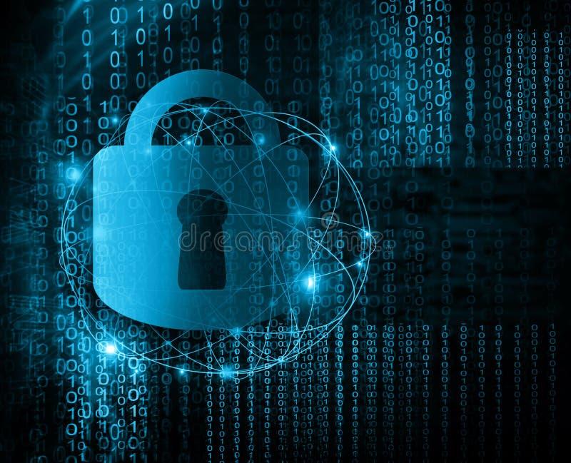 El mejor concepto del Internet de asunto global fondo tecnológico Fondo abstracto de la tecnología digital de la seguridad ilustración del vector