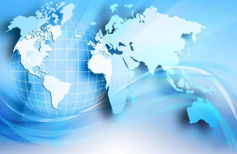 El mejor concepto del Internet de asunto global Globo stock de ilustración