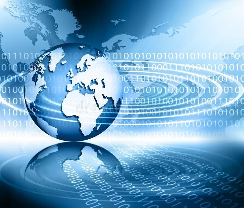El mejor concepto del Internet de asunto global Globo ilustración del vector