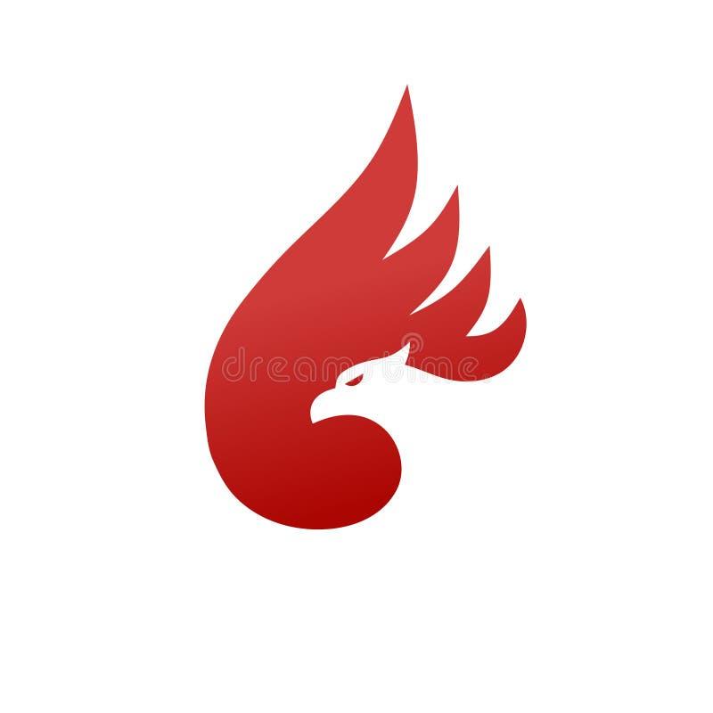 El mejor concepto simple del logotipo de Phoenix stock de ilustración