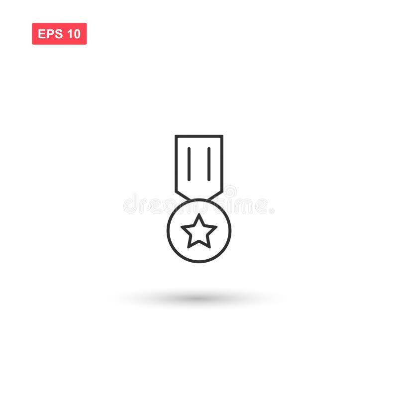 El mejor diseño del vector del icono de la medalla aisló 3 libre illustration