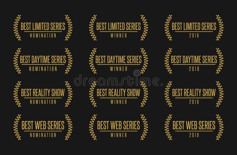El mejor ejemplo del vector del premio del nombramiento del género de la serie de la show televisivo libre illustration