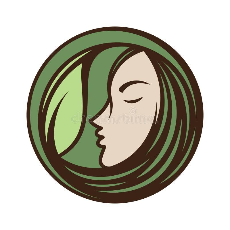 El mejor icono creativo de la cara de la mujer ilustración del vector