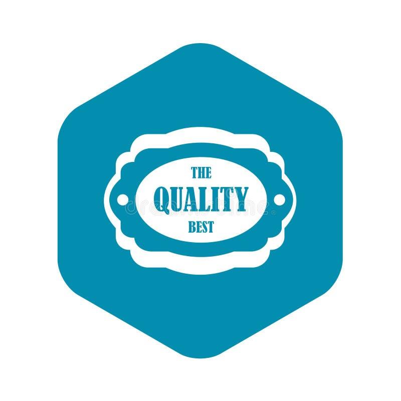 El mejor icono de la etiqueta de la calidad, estilo simple libre illustration