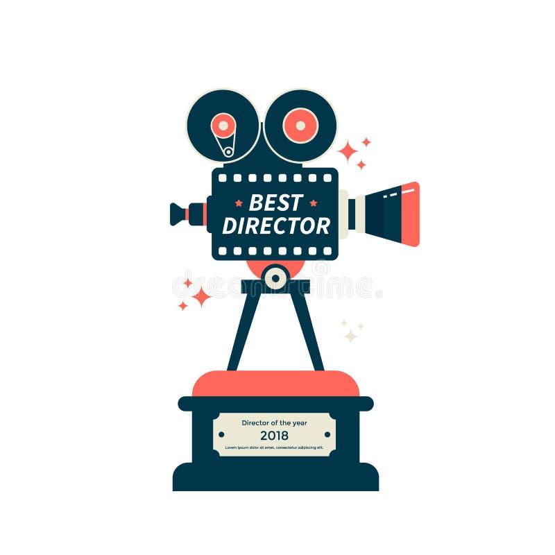El mejor icono o símbolo del premio de la película del director libre illustration
