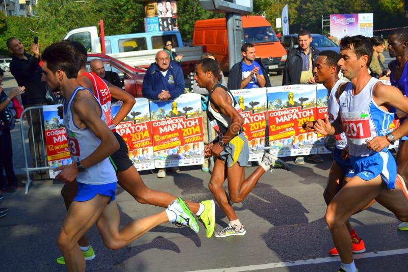 El mejor marathoner búlgaro Sofía fotos de archivo libres de regalías