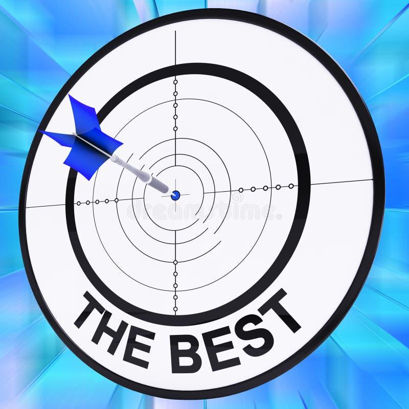 El mejor muestra la compra más fina, vendedor del producto ilustración del vector