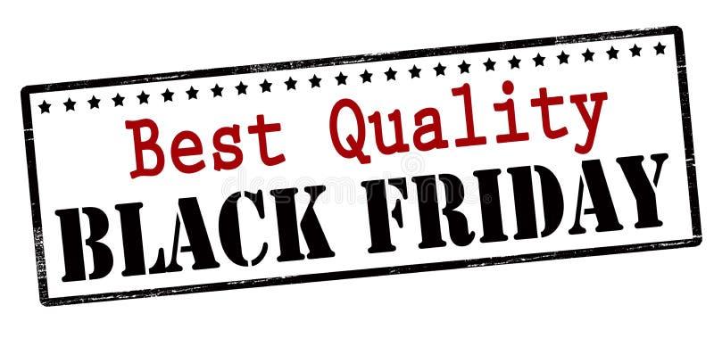 El mejor negro viernes de la calidad libre illustration