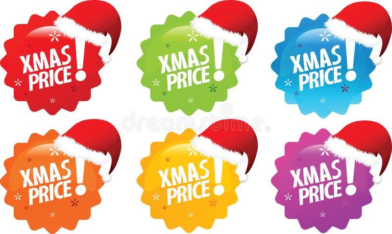 El mejor precio de Navidad stock de ilustración