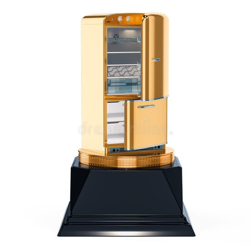 El mejor refrigerador, concepto de oro del premio representación 3d libre illustration