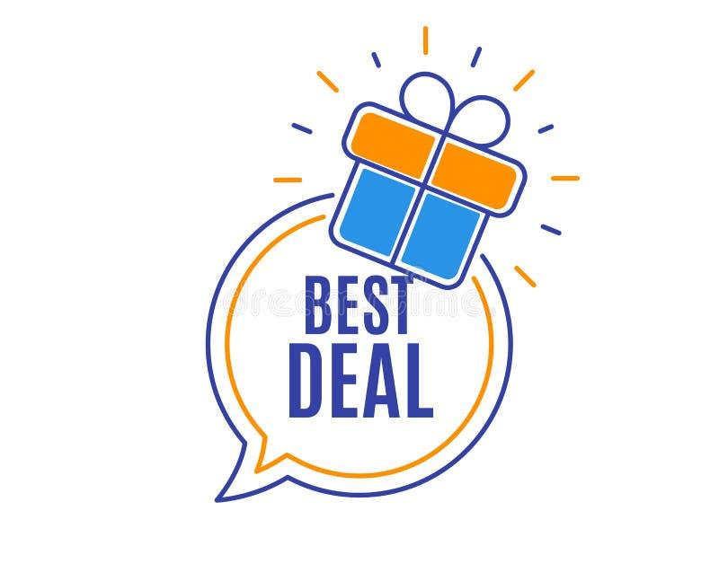 El mejor reparto Muestra de la venta de la oferta especial Vector stock de ilustración