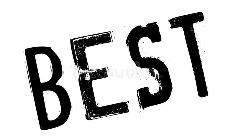 El mejor sello de goma ilustración del vector
