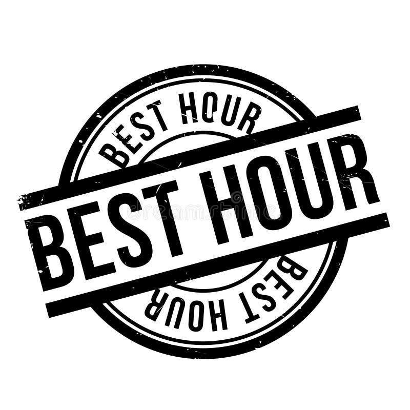 El mejor sello de goma de la hora stock de ilustración
