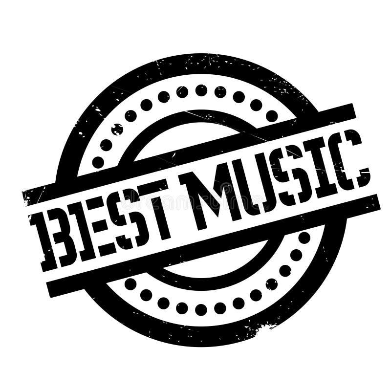 El mejor sello de goma de la música libre illustration