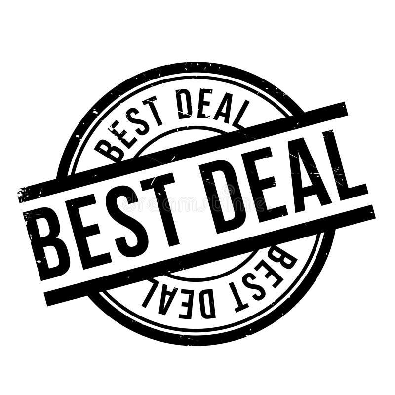 El mejor sello de goma del trato imagen de archivo libre de regalías