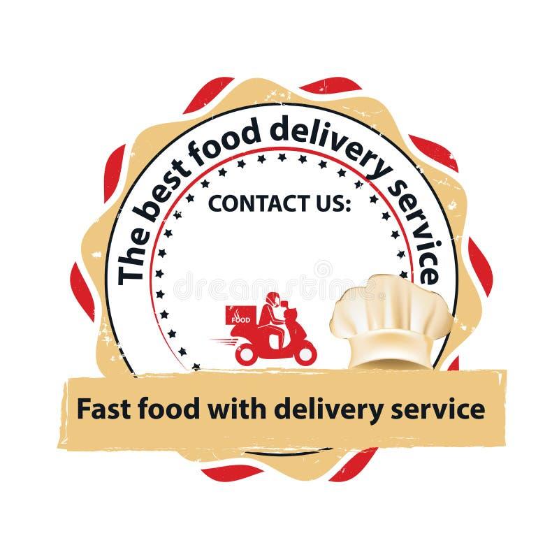 El mejor sello imprimible del servicio de entrega de la comida libre illustration