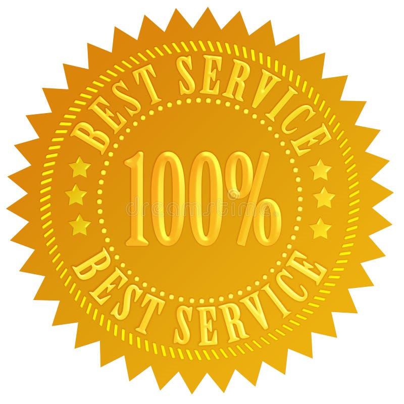 El mejor servicio stock de ilustración
