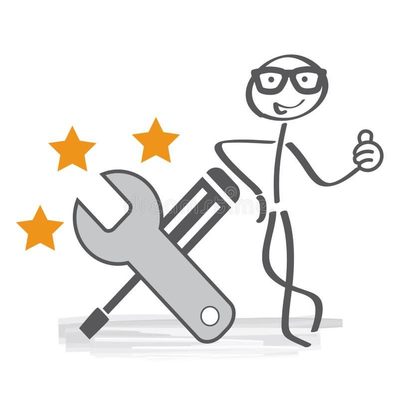 El mejor servicio ilustración del vector