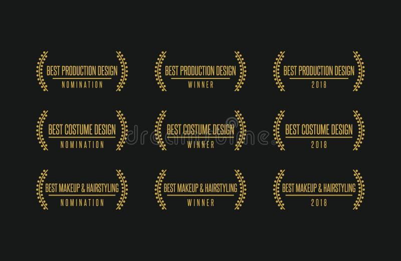 El mejor sistema del logotipo del ganador del premio del diseño ilustración del vector