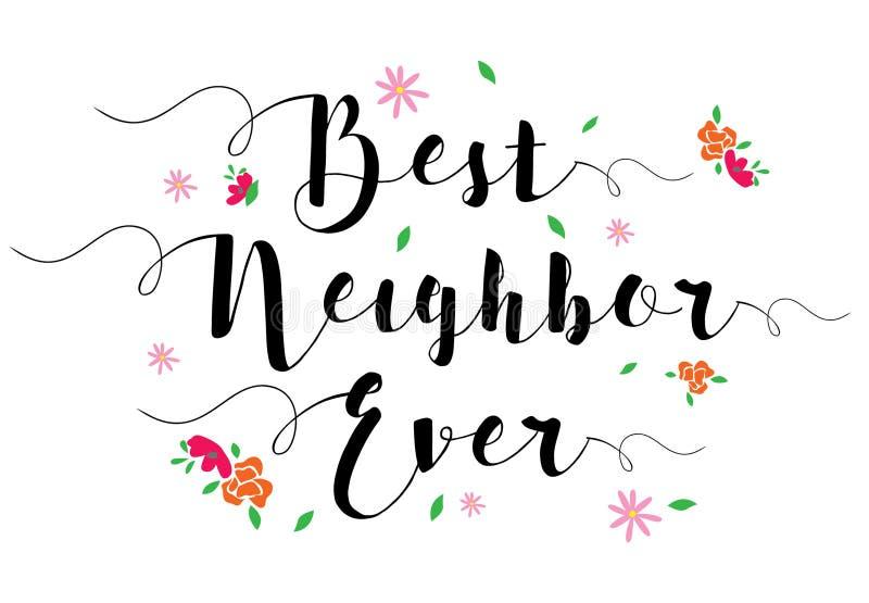 El mejor vecino nunca stock de ilustración