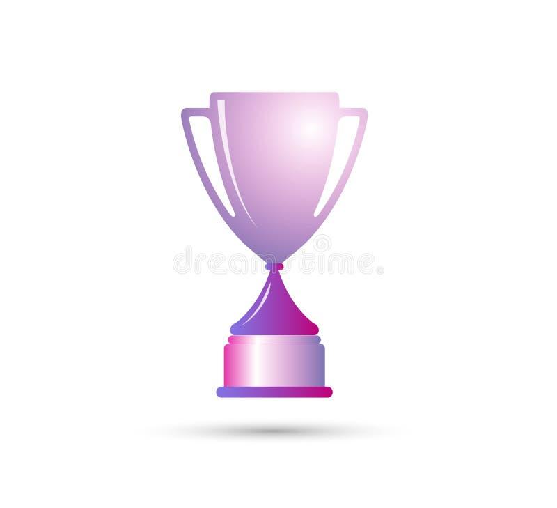 El mejores premio del trofeo del ganador de la taza de campe?n y elemento simples del dise?o del icono de la victoria ilustración del vector