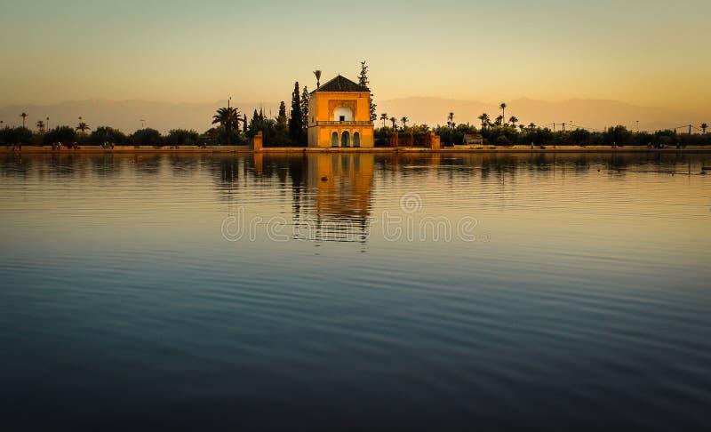 El Menara ogród w Marrakech, Maroko obraz royalty free