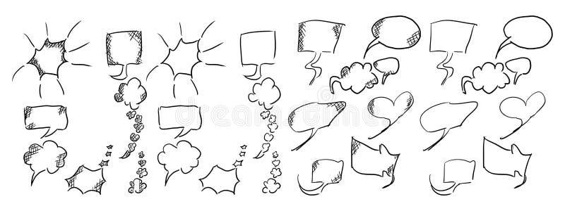 el mensaje dialoga los garabatos simples para los ejemplos nuevos libre illustration