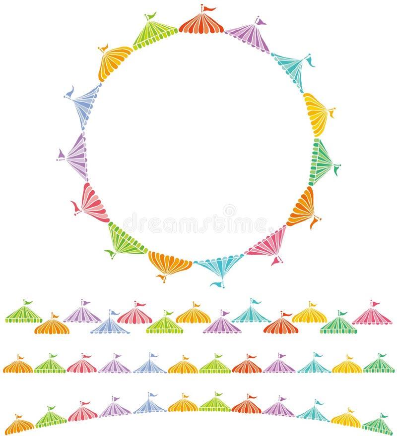 El mercado atasca el círculo stock de ilustración