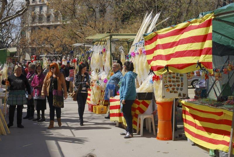El mercado atasca para la semana santa. Barcelona. España fotografía de archivo libre de regalías