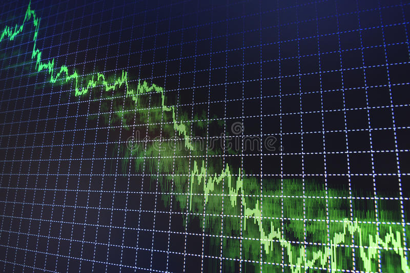 El mercado de acción cita el gráfico imagen de archivo