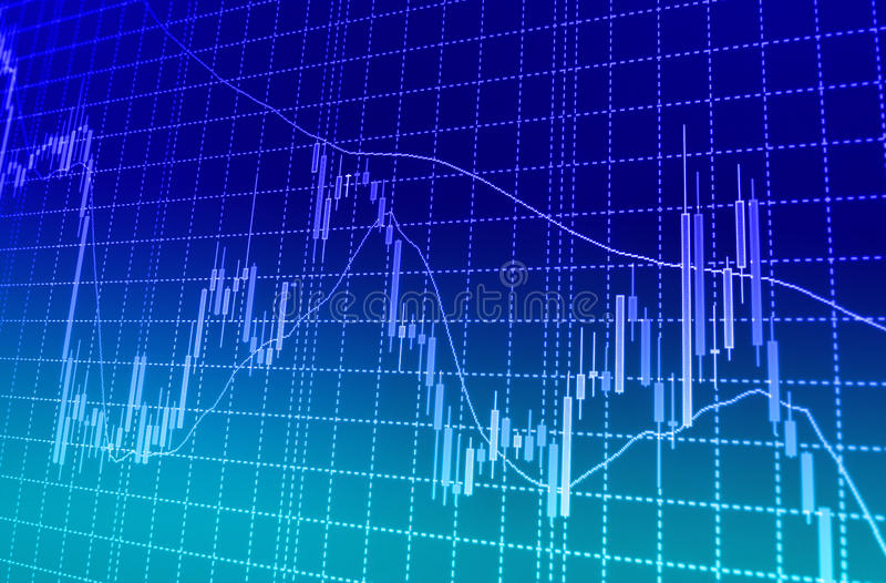 El mercado de acción cita el gráfico libre illustration