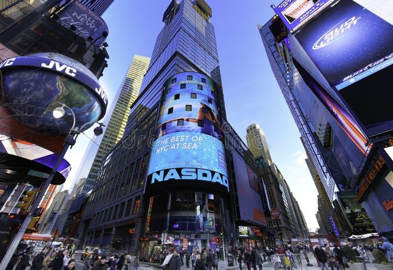 El mercado de acción de NASDAQ imágenes de archivo libres de regalías