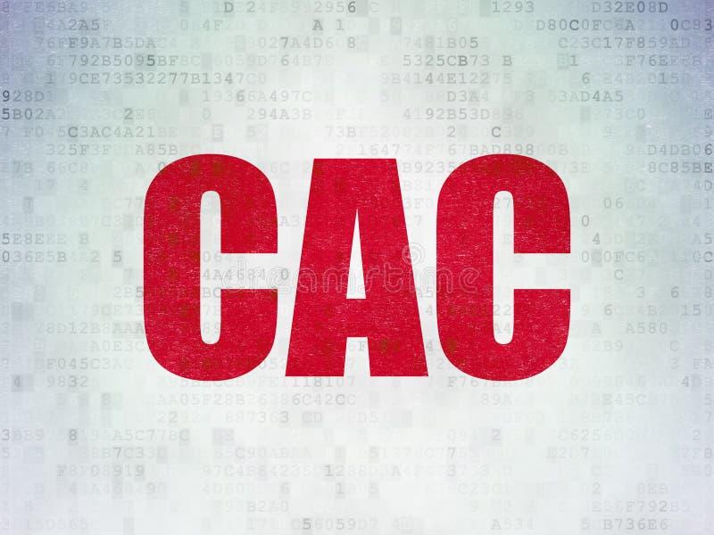 El mercado de acción pone en un índice concepto: CAC en los datos de Digitaces empapelan el fondo libre illustration